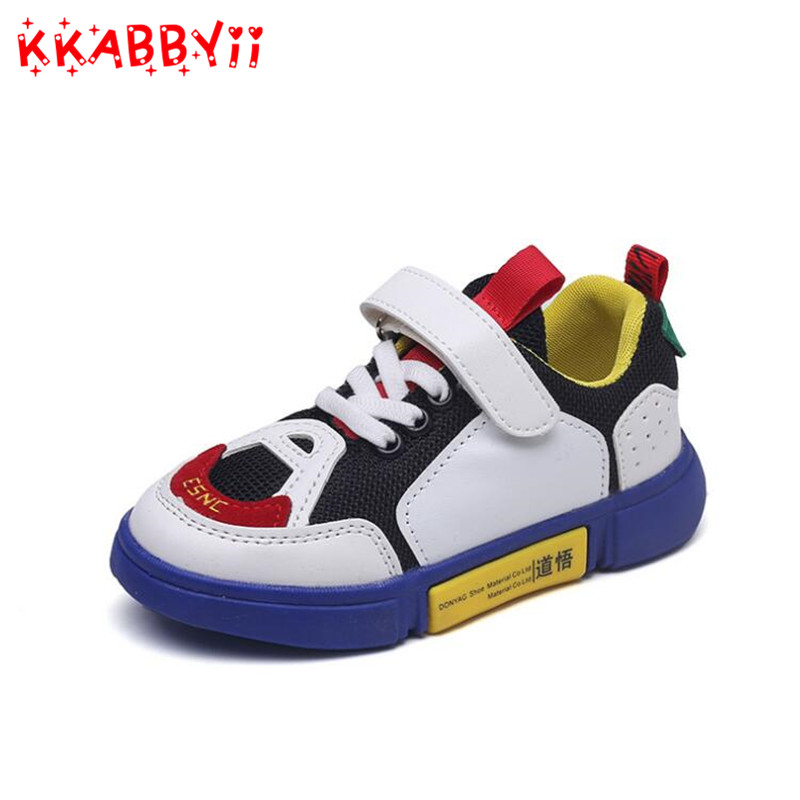 Shoes Kids Boys Flat Running Sneakers Girls Soft Casual Sneakers Children Shoes Breathable Tennis Shoe New Spring 2018 Blue
