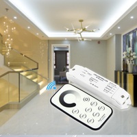 T1+R3 DC12V 24V Single color Led Touch Dimmer mini RF Remote receiver Controller brightness adjustment 3A*3CH for 5050 led lamp
