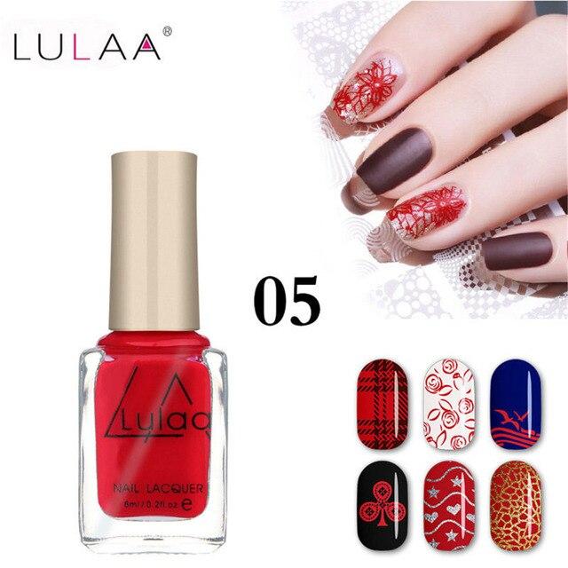 12 colores aceite de Gel de uñas 6 ML DIY estampado de uñas laca para pintura de arte navideño barniz estampado LULAA esmalte de uñas