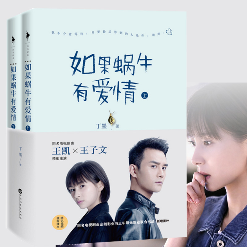 Chinese popular novels sweet love stories for adults Detective love fiction book by Dingmo best seller -If the snail has love image