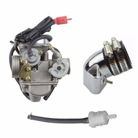 GOOFIT PD24J Carburetor with Intake Manifold Pipe for GY6 125cc 150cc ATV Scooter C029 702