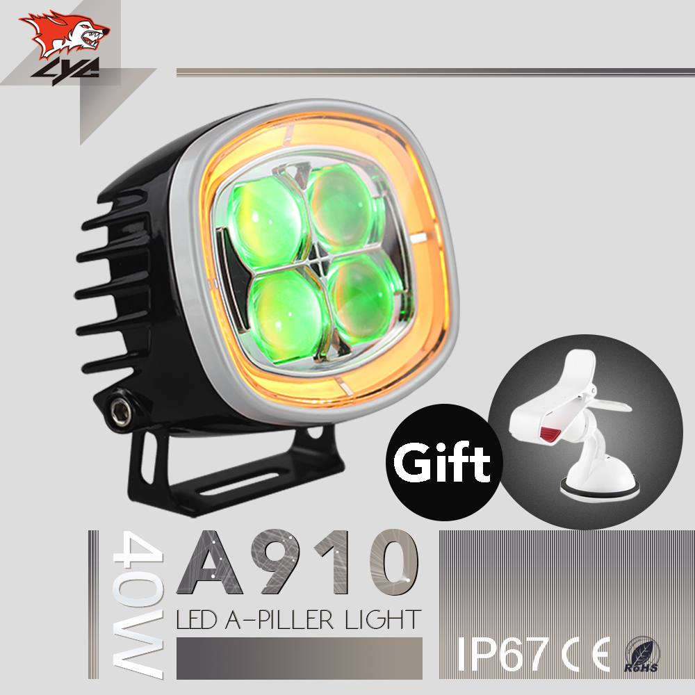 LYC 2 Pcs 3000K 6000K For jeep Wrangler Light Covers Lights On Trucks Led Car Accessories IP67 Import Chip Headlight Led Auto lyc 6000k led daylight for citroen c4 for nissan led headlights 12v car led lights ip 68 chips offroad work light 40w