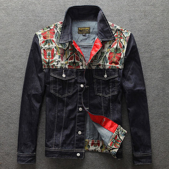 European American Streetwear Fashion Men Jacket Folk Custom