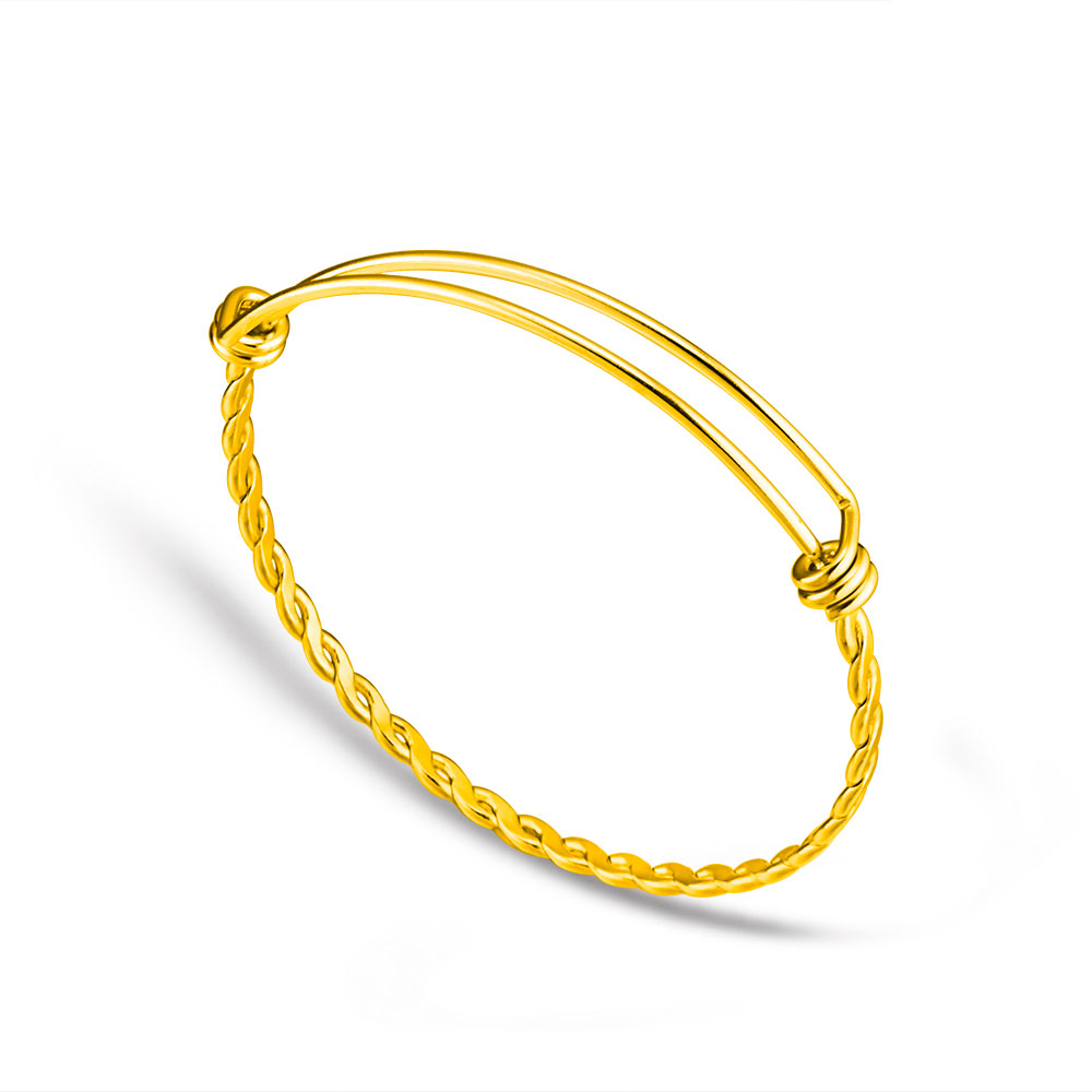 yellow sterling yurman two bracelet silver bracelets plated gold tone dp twisted and bangle com replica david bangles twist amazon jewelry