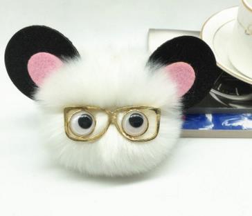 Мультфильм Монстр поддельные лиса зайчик мышь меховой помпон помпонами брелок Женская сумка Monster Пуппе Jewelry Гольф автомобиля мешок кулон