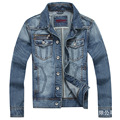The new 2016 age season tide male cowboy coat of cultivate one's morality Vintage denim jacket