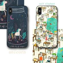 Cartoon unicorn Phone Cases Cover for iphone X XR XS MAX 6 6s 7 8 Plus TPU Coque For 8Plus 5SE