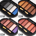 6 Colors/Lot Shimmer Mini Eyeshadow Pallete Eyeshadow Powder Pigment Mineral Spangle Makeup Cosmetic Long-lasting 2017 Spring