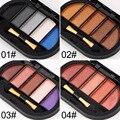 6 Cores/Lote Shimmer Mini Cosméticos Maquiagem Sombra Paleta de Sombra Em Pó Pigmento Mineral Lantejoula Long-lasting 2017 Primavera