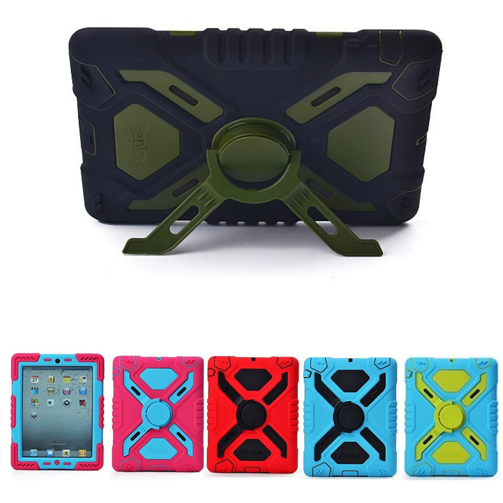 Armor Waterproof Shockproof Dustproof Kids Safe Stand Case Cover For ipad mini 1/2/3 Retina Shell