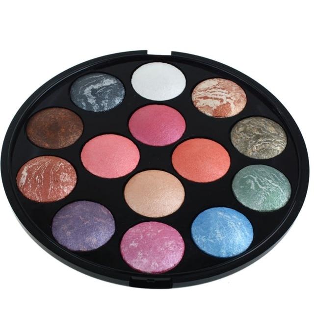 Nueva 14 Colores de Maquillaje de Sombra de Ojos Shimmer Mate Paleta de Colores de Sombra de Ojos Colorete Resaltador paleta de sombra
