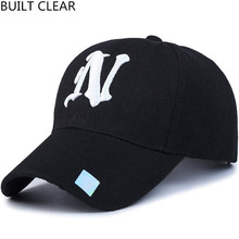 (BUILT CLEAR) snapback1 piece Baseball cap solid color leisure hats with N letter embroidered cap for men and women hats for men