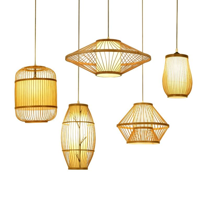 Chinese Garden Hotel Restaurant Style Pendant Lights lamp Japanese bamboo dining room study LU630 ZL41