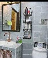 Iron Bathroom Rack Shelf Towel Rack Bathroom Supplies Storage Rack Finishing Frame