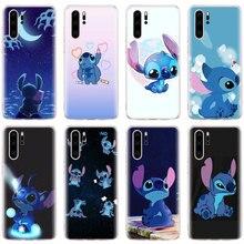 Cute funny Stitch Emoji Silicone Soft Phone Cases for Huawei P30 P20 Pro P10 Lite P Smart Plus 2019 Mate 20 Case Coque