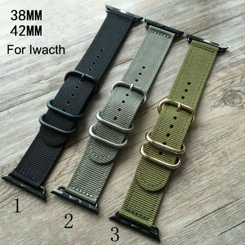 Canvas sport Apple Watch Belt Nylon 38MM 42MM Watch Band Suitable For Iwatch Free Shiping