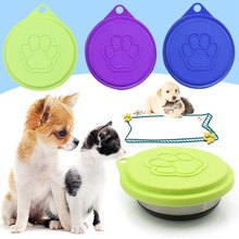 Dia. 8.8cm Universal Pet Food Can Cover Silicone Storage Cap Fresh Lid Reusable Dog Cat Accessories Color Random(China)