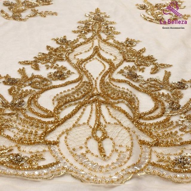 La Belleza-robe de mariée en dentelle | Nouveau tissu, dentelle perlée, argent, or, cristal, design, nouvelle collection 2019