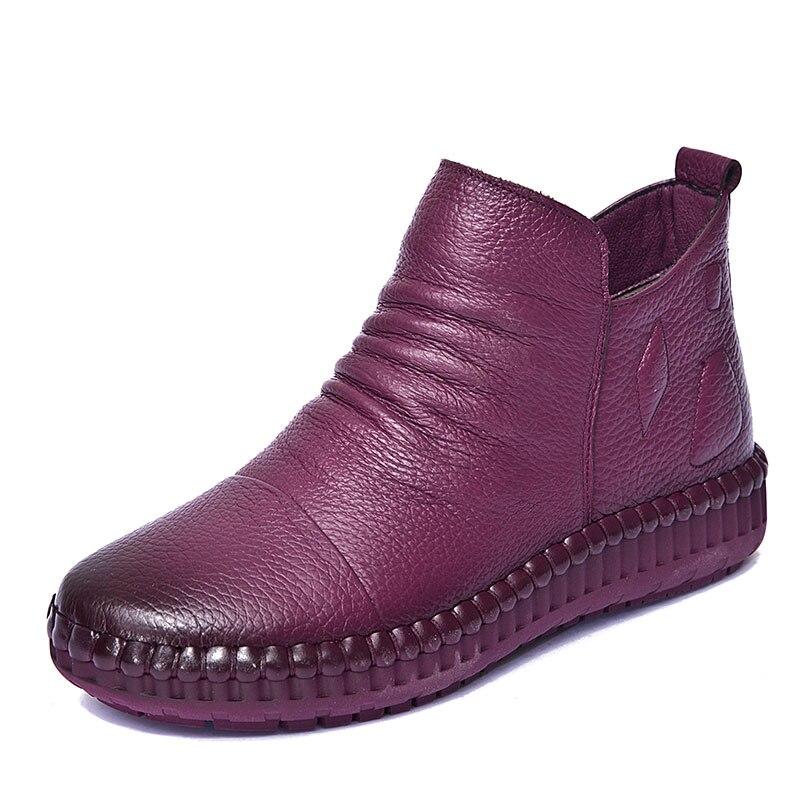 2018 femmes bottes de neige en cuir femmes bottes hiver coton chaussures B86