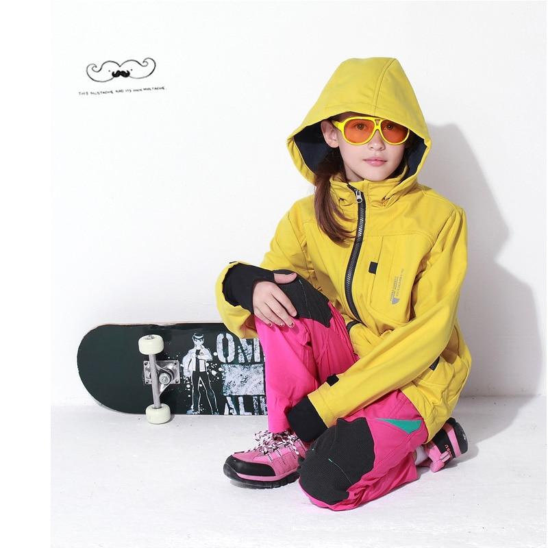 Boys Girls Hooded Jacket Tops Sportswear Winter Windbreaker For Teenage Softshell Outerwear Kids School Clothes Children Coats Hiking Jackets     - title=