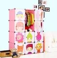 12 кубов diy детский мультфильм шкаф гардероб творческий собраны