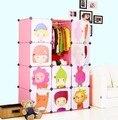 12 cubes diy children's cartoon wardrobe closet creative assembled
