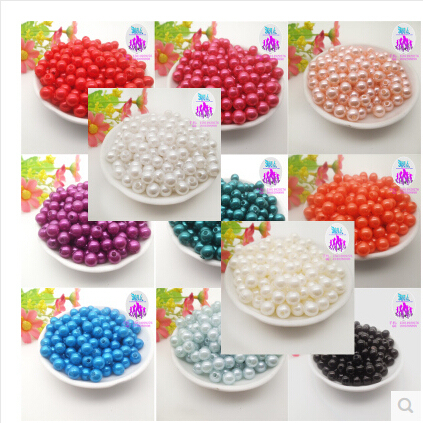 Free Shipping 8mm 100pcs 26 colors, ABS Imitation Pearl Round Plastic Beads, Making jewelry diy beads, Jewelry Handmade necklace