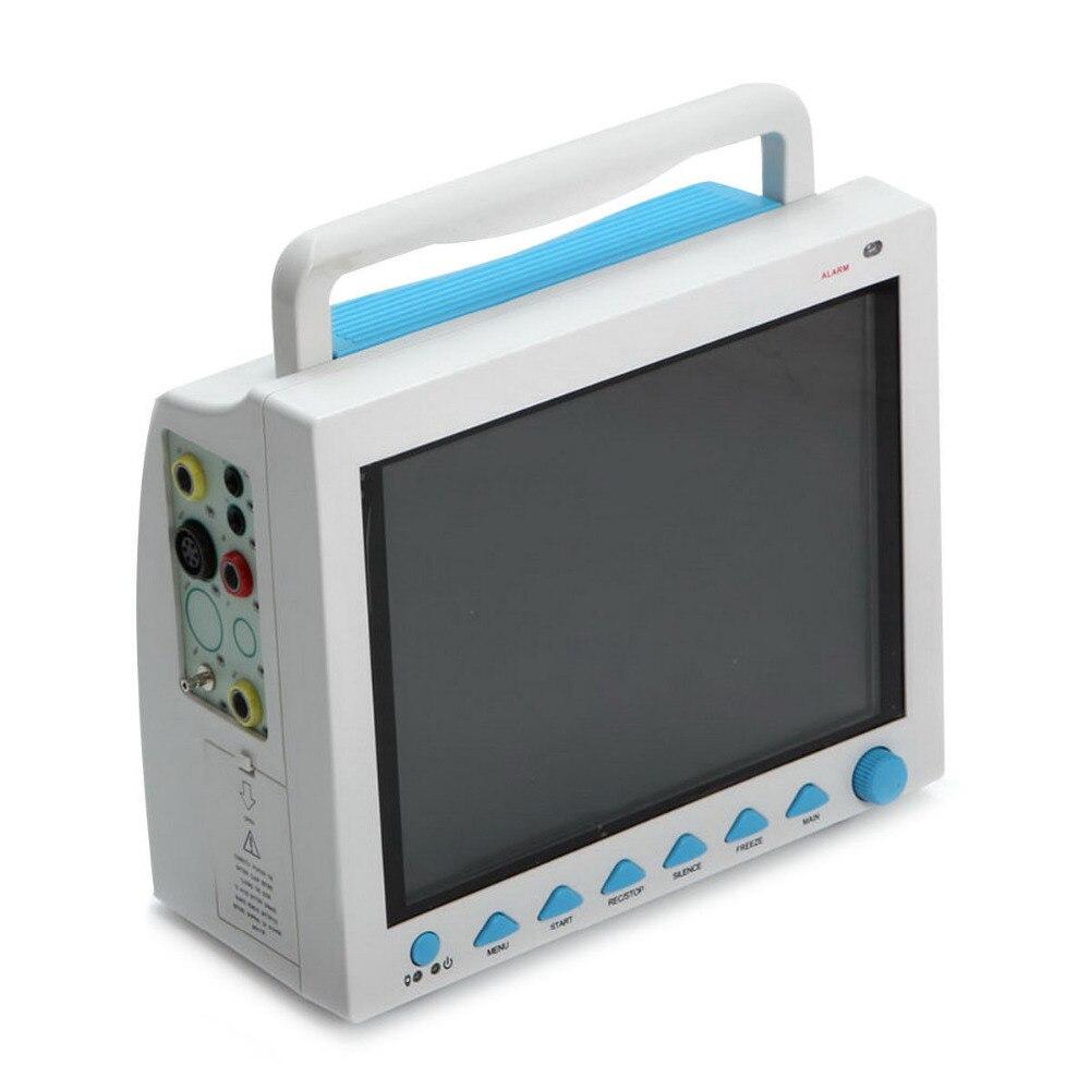 Contec CMS8000 6-параметров темп, пульс, дыхания, ЭКГ, SPO2, НИАД Цифровые ICU пациентов жизненно важных монитор + принтер