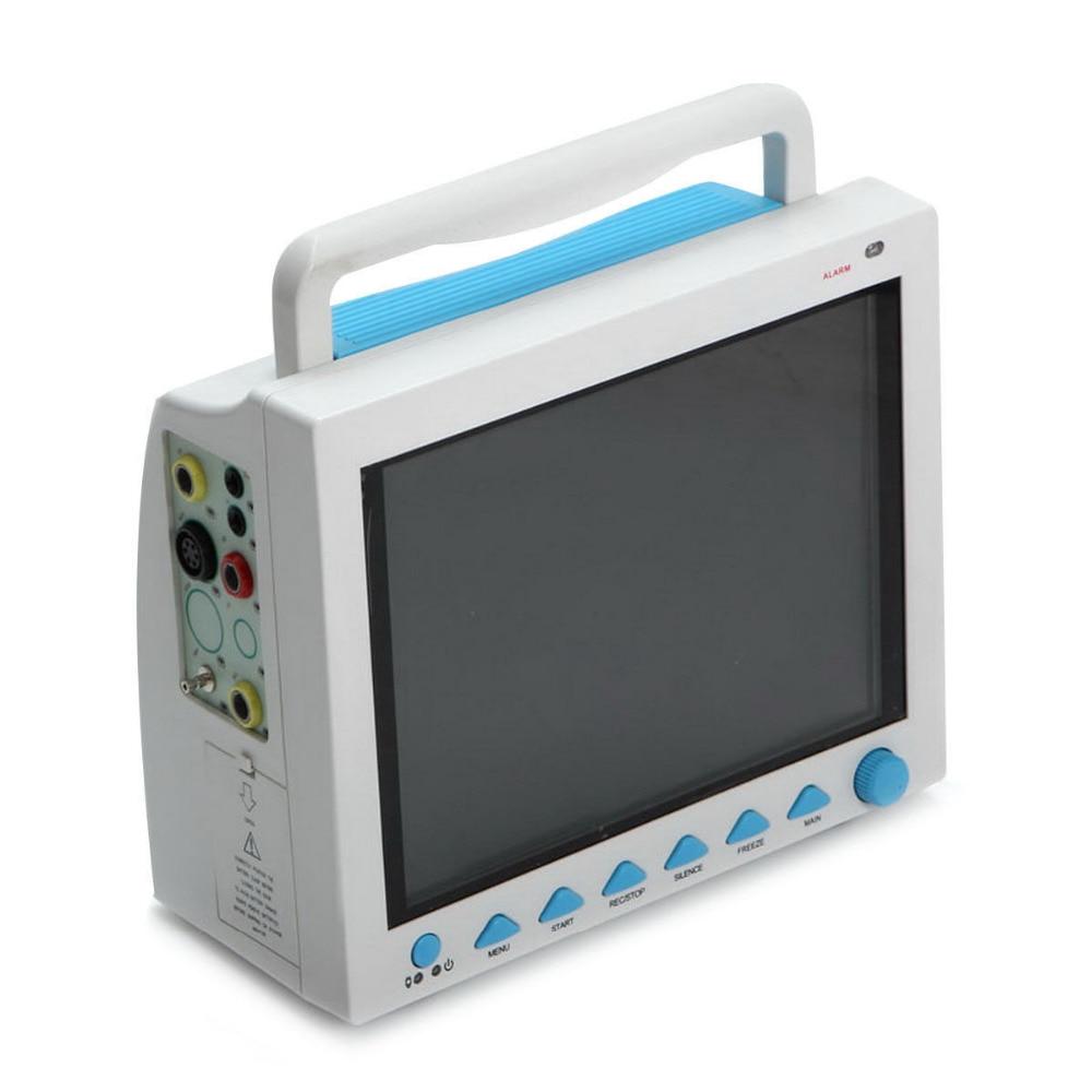 Contec CMS8000 6-Parameter TEMP, Pulse Rate, Respiration, ECG, SPO2, NIBP Digital ICU Patient Vital Signs Monitor +Printer thermal printer free 1 printer paper for contec multi parameter patient monitor