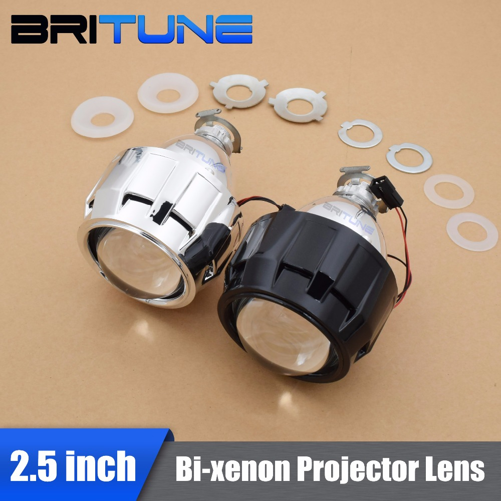 2.5 Inches WST HID Bi xenon Projector Lens + Shrouds High Low Lights H1 H4 H7 RHD/LHD For Headlight Retrofit Kit DIY Car Styling