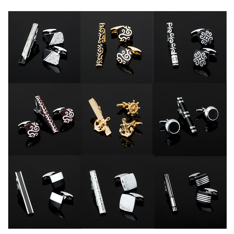 XK399 High quality men's business shirt tie clip / Cufflinks / luxury gift set / other accessories crazy promotions