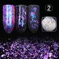 1 Box BORN PRETTY Transparent Chameleon Nail Sequins Dust Dazzling Paillette Manicure Nail Art Glitter Sheet Decorations
