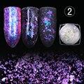 1 caja de born pretty camaleón transparente lentejuelas deslumbrantes paillette de polvo de uñas manicura del arte del clavo del brillo decoraciones hoja