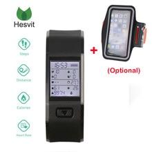 Hesvit S3 Bluetooth 4.0 Смарт Браслет монитор Сердечного Ритма Смарт-браслет ТПУ Фитнес-Трекер Умный Браслет для Android 4.4 iOS 7.0