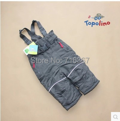 Free Shipping - topomini baby boys/toddler ski trousers, snow pants, waterproof and windproof winter pants, 80 to 98 (MOQ: 1 pc)