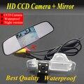 Promoción SONY CCD cámara de visión trasera para KIA K2 Rio sedán impermeable versión de la noche + 4.3 pulgadas LCD a Color Espejo Del Monitor Del Coche