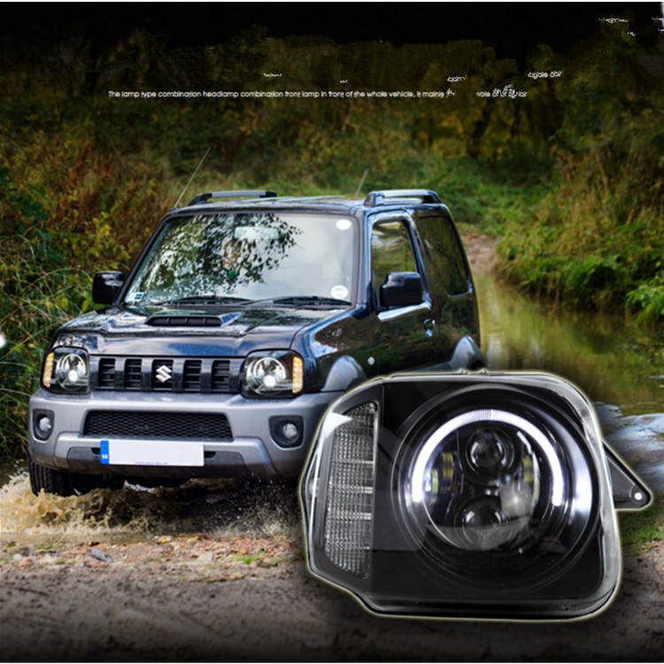 Cross Country 4x4 >> Us 280 0 Cross Country Car Accessories 4x4 Jimny Projector Led Angel Eyes Headlamp For Suzuki In Car Light Assembly From Automobiles Motorcycles