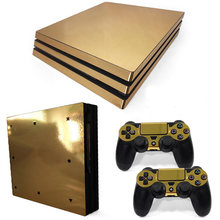 For Sony PS4 Pro Vinyl Skin Sticker Cover Console Controle For Playstation 4 Pro + 2 Controller Decal Gamepad Sticker(China)
