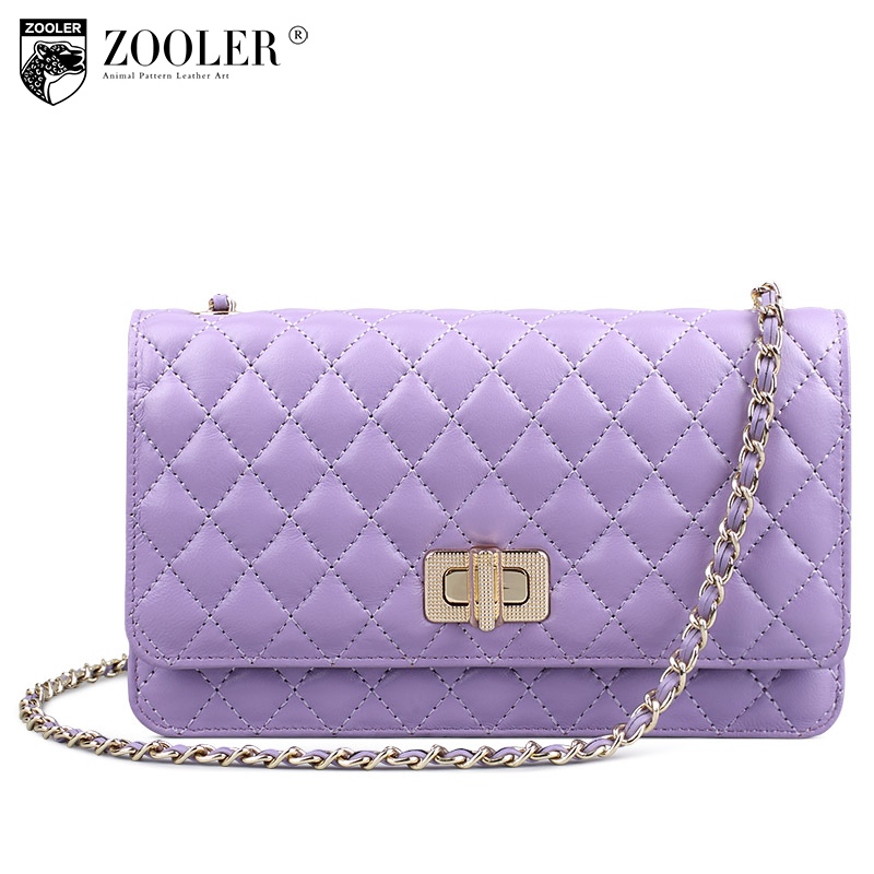 ZOOLER genuine leather bag sheepskin women messenger bags luxury plaid woman bag chains (0-profit item) bolsa feminina #5311 sales zooler brand genuine leather bag shoulder bags handbag luxury top women bag trapeze 2018 new bolsa feminina b115