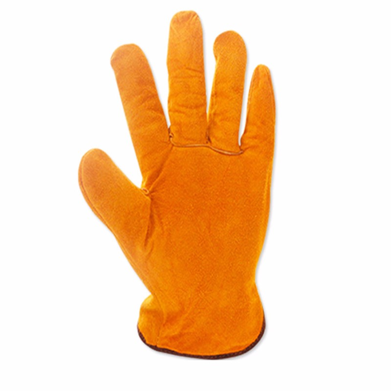 Wear-resistant Full Two-layer Leather Welding Gloves High Temperature Insulation Welder Gloves Leather Labor Protection