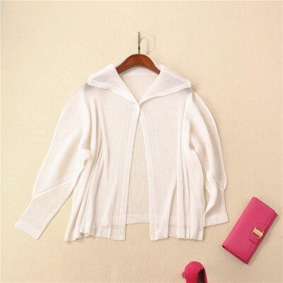 Manteau Stock Livraison type blanc Noir souris Chauve Gratuite Longues Bouton Paragraphe En Miyake bleu Manches Plis Unique gris 8nWOrq8wP