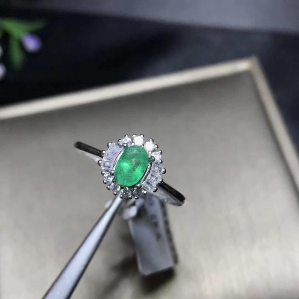 Bague émeraude naturelle, à la mode, qualité de gemme, couleur profonde, argent 925, numéro de taille personnalisable
