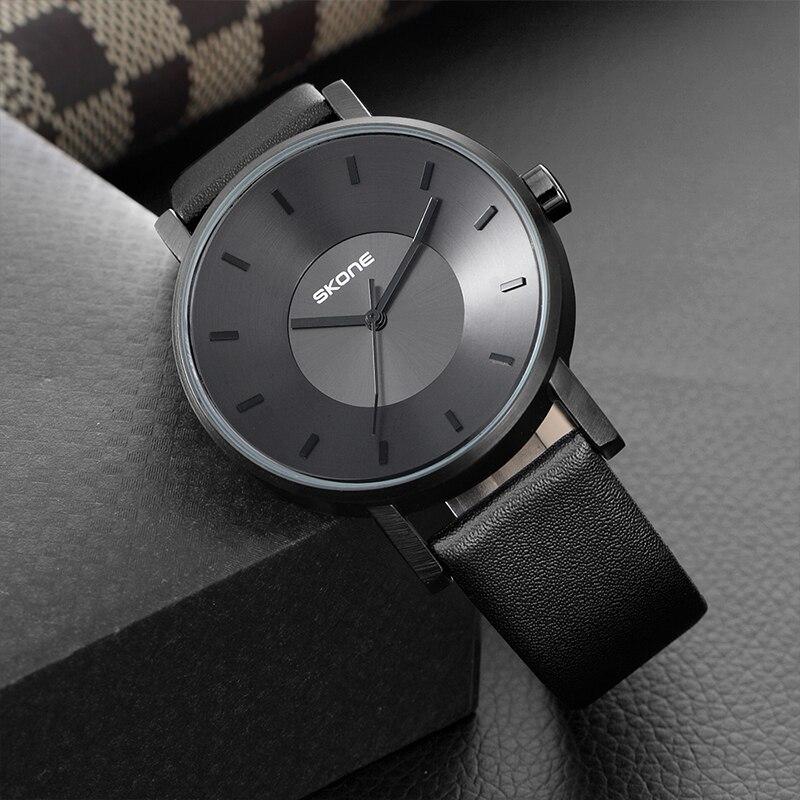 SKONE 2017 New Creative Brand Watches Men Women Fashion Casual Sport Clock Classical Black Quartz Simple Wrist Watch Relogio