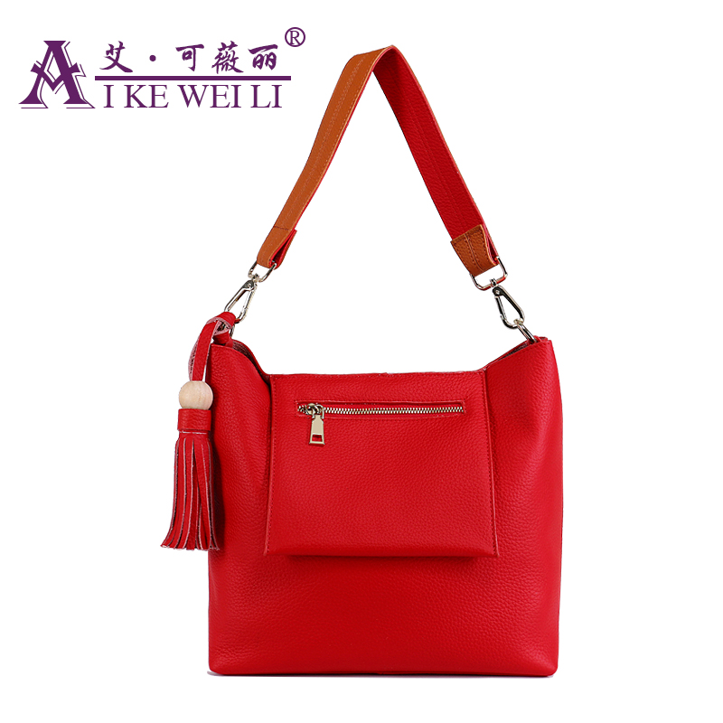 ФОТО Women Genuine Cowhide 100% Leather Handbags Shoulder Messenger Bags Tassels Famous Brand Fashion Style Shopping Crossbody Totes