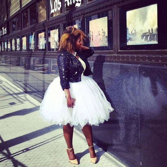 489c299e33b Plus Size White Midi Tulle Skirt Extra Puffy Ball Gown Women Tutu Skirt  Lolita Saias Jupe Faldas Personalized Adult Skirt