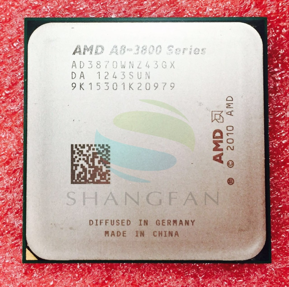 AMD A8 Serie A8 3800 A8 3870 A8-3870 3 GHz 100 W Quad-Core CPU Processore AD3870WNZ43GX A8 3870 K Presa FM1/905pin