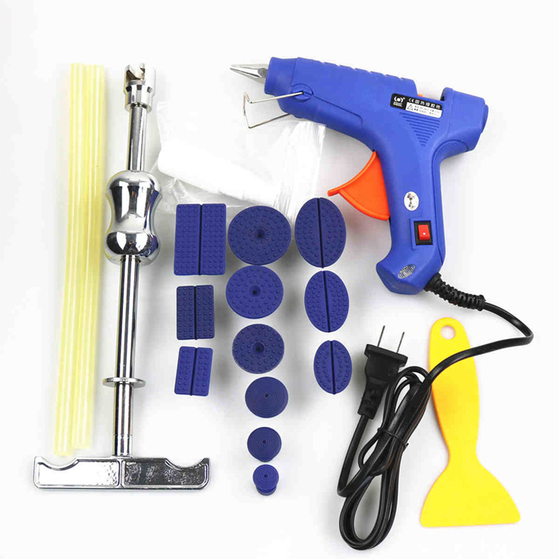 Car Dent Paintless Repair Tools  Dent Puller Slide Hammer + 12pcs Glue Tabs For Paintless-dent-repair spot welding sheet metal tools spotter tools with slide hammer 393pieces ss 393