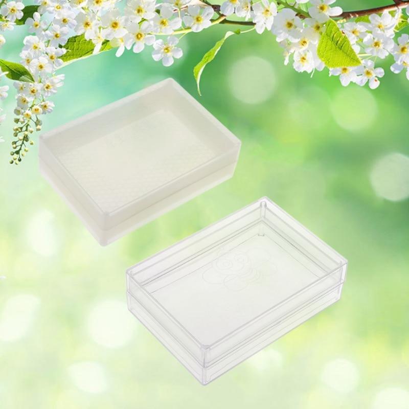 Clear Honey Lattice Produce Box Bee Hive Frame Beehive Beekeeper Tool Equipment