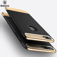 Baseus Luxury Armor Cover Case For IPhone 7 PC TPU Full Coverage Ultrthin Soft Phone Bag