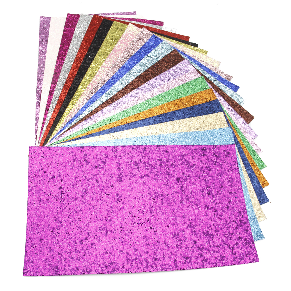 David Accessories 20*34cm Glitter Solid Color Synthetic Leather Patchwork For Hair Bow Handbags Handmade Materials DIY,1Yc4665